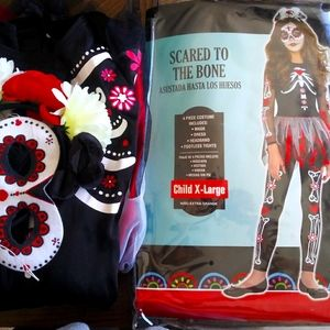 Girls x-large scared to the bone costume
